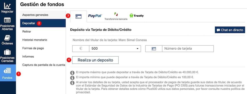 como-depositar-dinero-plus500